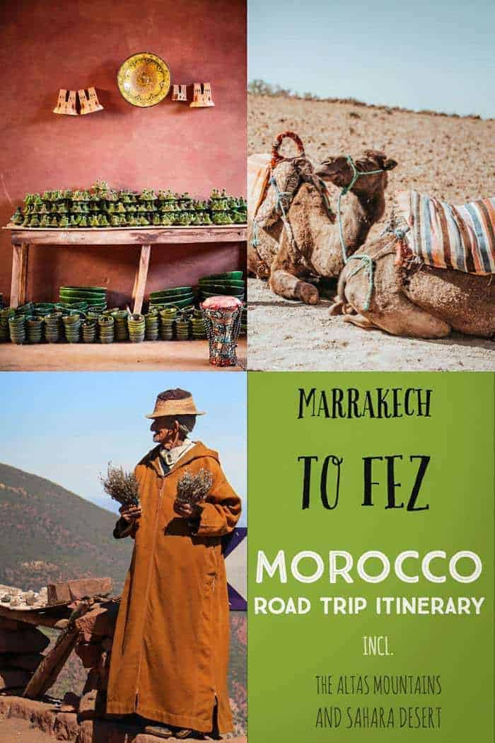 The best way to get from Marrakech to Fez- Morocco road trip itinerary. #morocco #fez #marrakech #traveltips