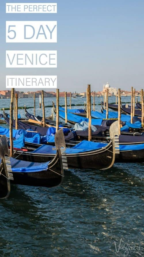 The Perfect Five Day Venice Itinerary. #italy #venice #traveltips