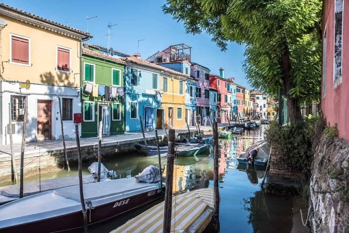 The colourful houses on Burano Island