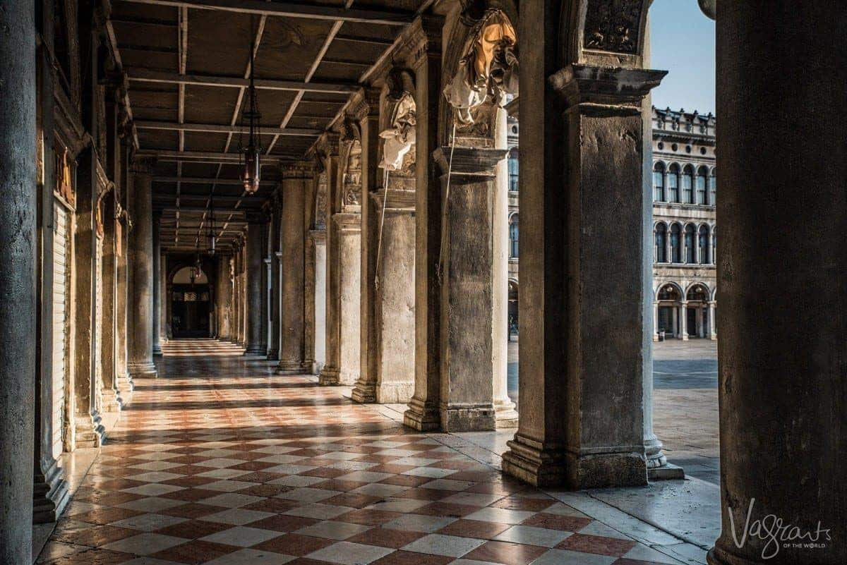 Piazza San Marco in Venice in the early morning.
