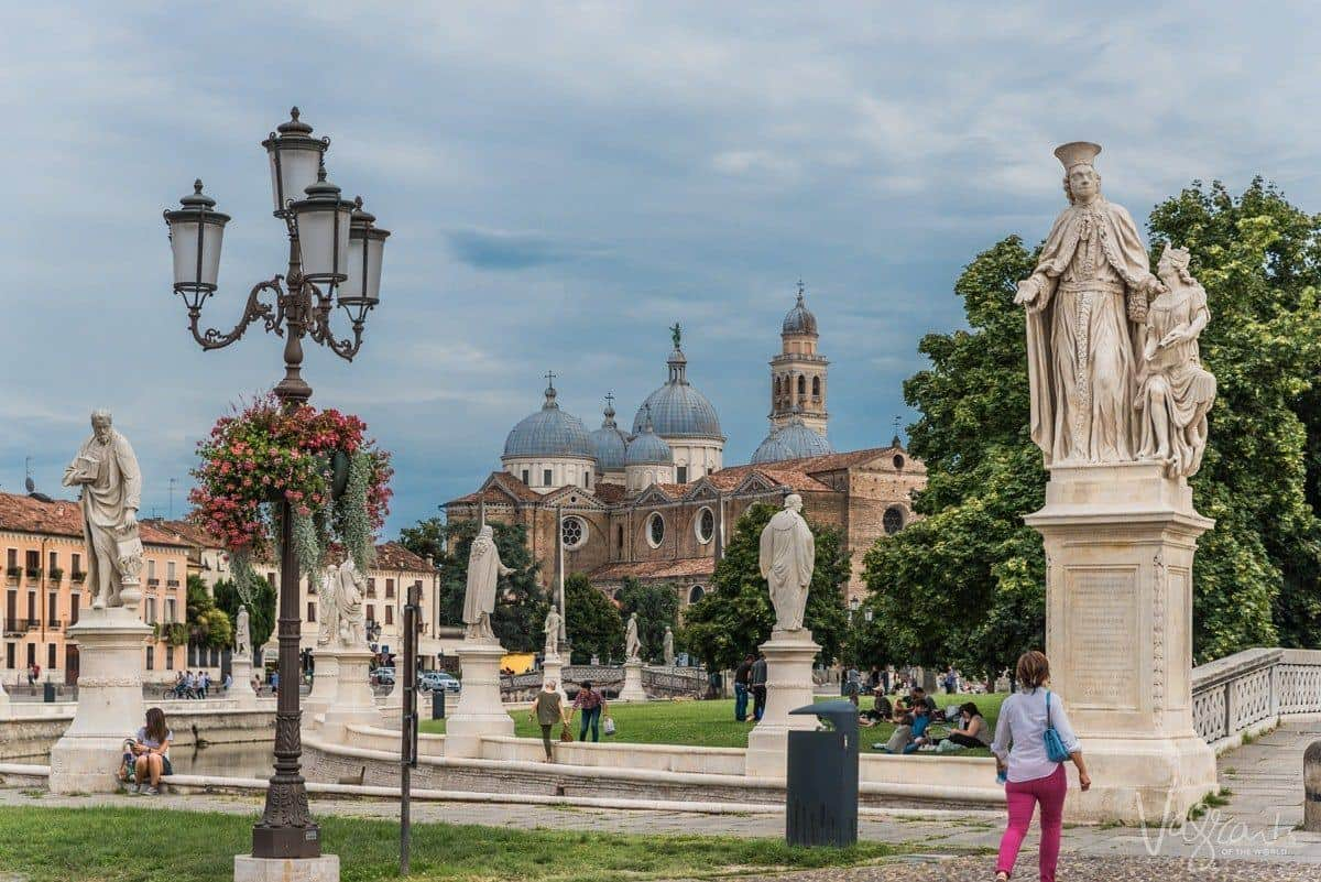 The beautiful statues in Padua Prato della Valle