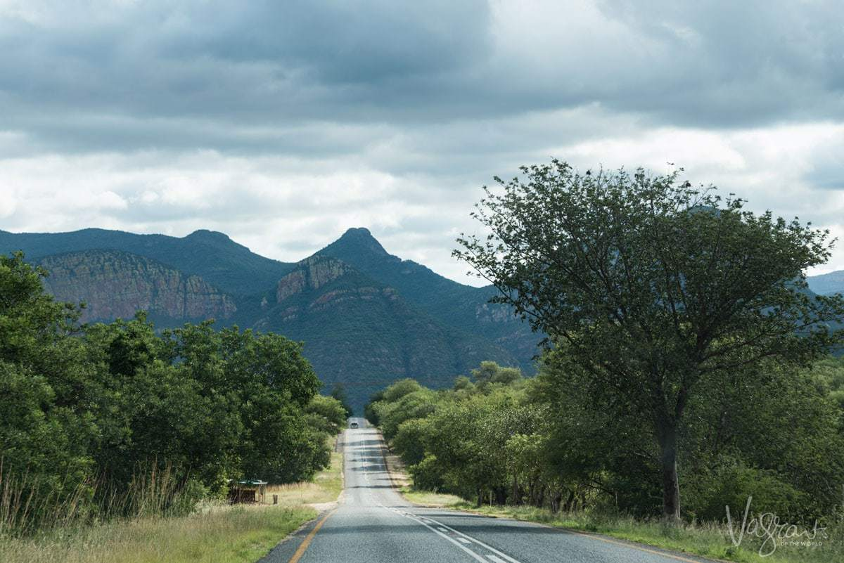 A long stretch of road along the Panorama Route from Johannesburg to Kruger National Park, South Africa. How long does it take to drive the Panorama Route, you can do it in 1 day