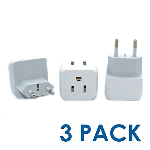 Travel Adapter Plug - Type C (3 Pack)