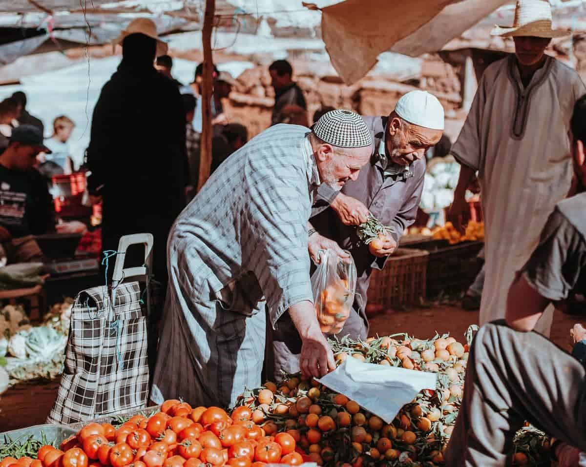 moroccan men at the market - Moroccan Packing list