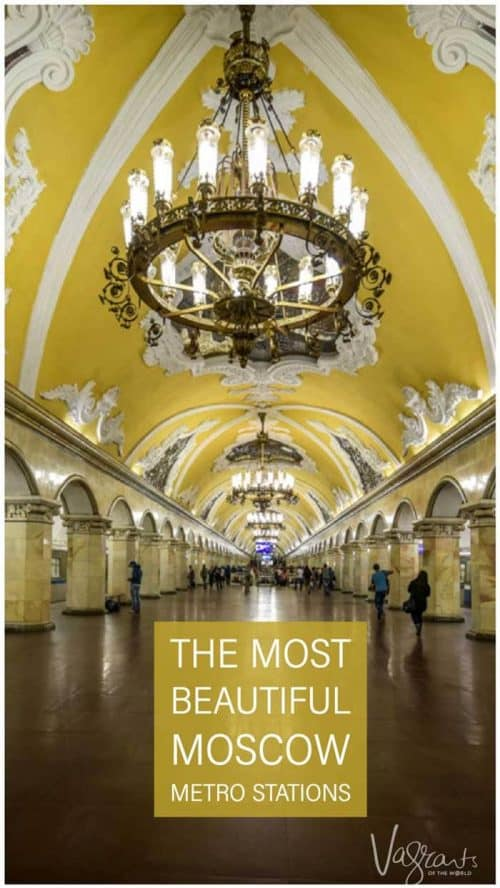 One of the best things to do in Moscow is travel through the beautiful Moscow Metro Stations #moscow #russia #travel