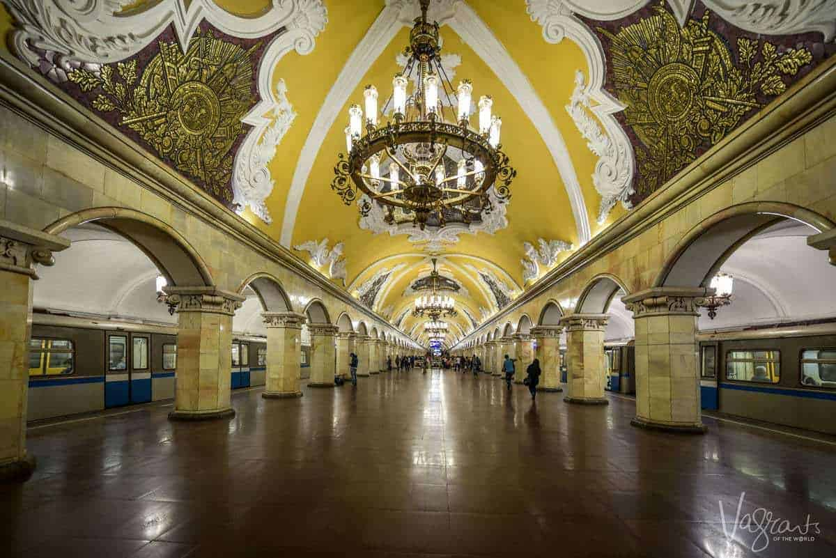 Komsomolskaya Metro Station Moscow. you may ask what is Moscow Russia known for? well metro stations for a start.