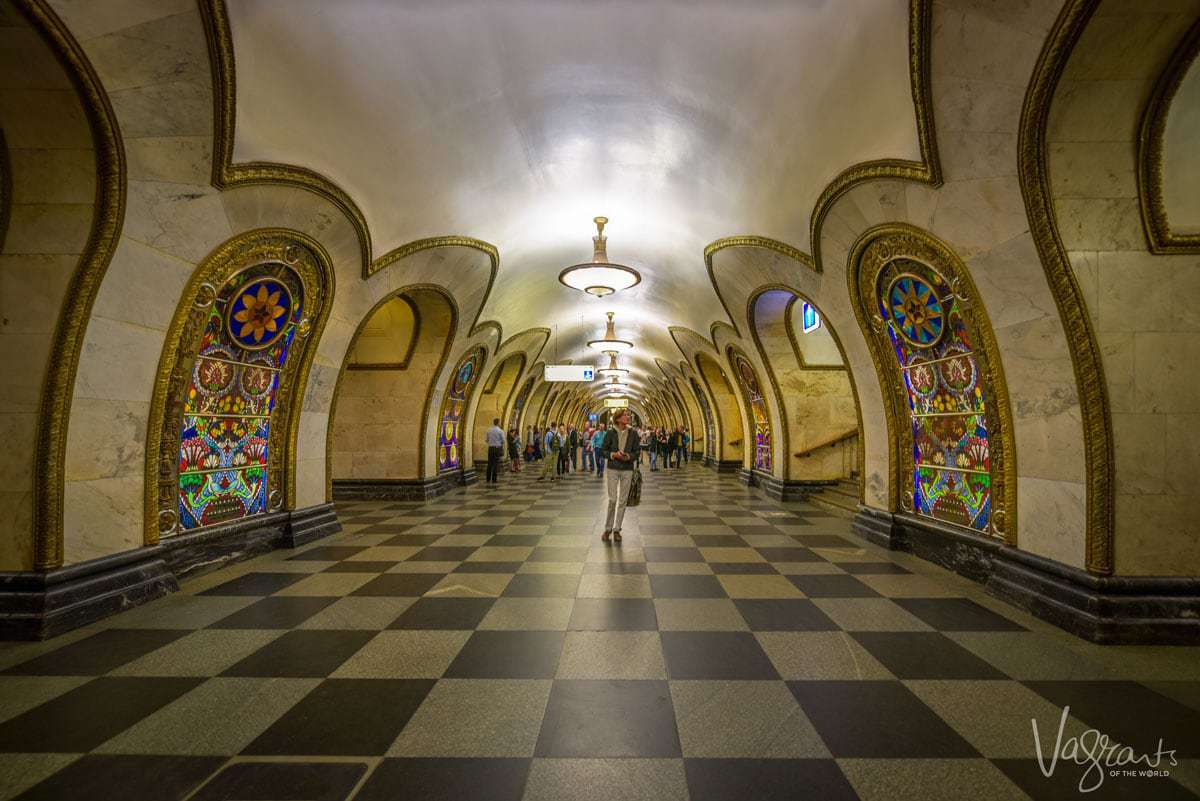 Novoslobodskaya Metro Station Moscow. you may ask what is Moscow Russia known for? well metro stations for a start.