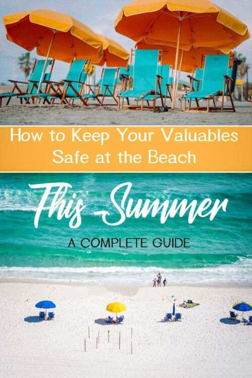 How to keep your valuables safe on the beach | beach safe | beach safety | Anti theft beach bag #beachsafe #summer #antitheft
