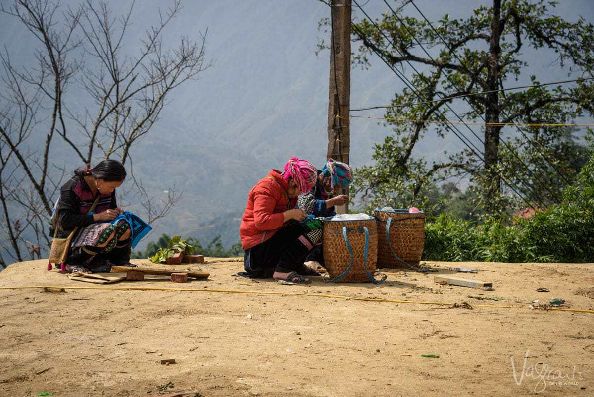 Local girls in Sapa Vietnam