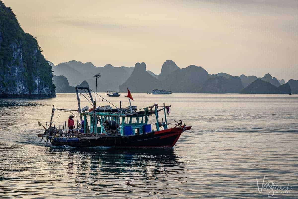 Fishing Boat Halong Bay