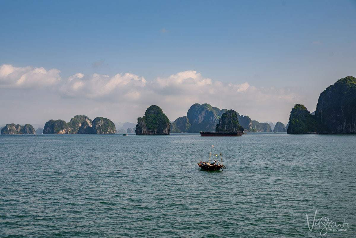 Fishing boat on Halong Bay