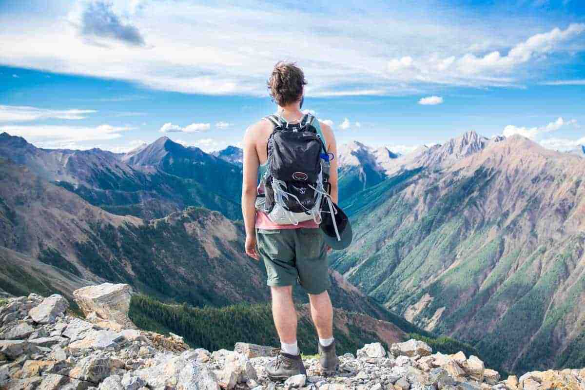 Adventure holiday hiking in the mountains