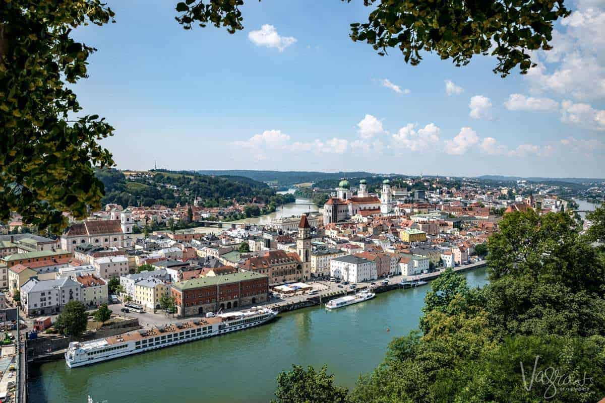 View of Passau Bavaria from the Castle