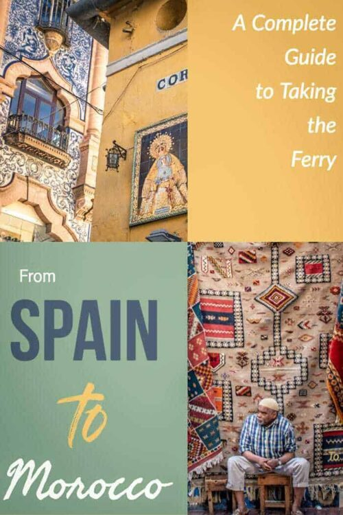Everything you need to know about taking the ferry from Spain to Morocco. You can be in Tangier Morocco in less than an hour. | Travel Africa #morocco #africa #spain #traveltips