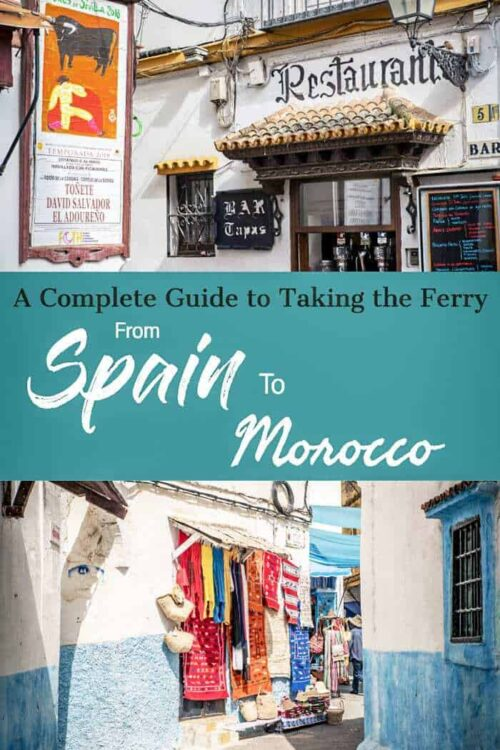 Want to know how to travel from Spain to Morocco by ferry? Here's everything you need to know. | Travel Africa #morocco #africa #spain #traveltips