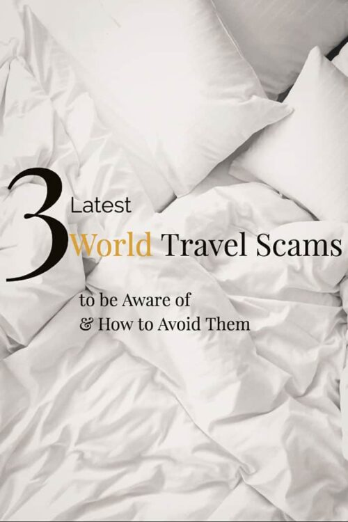 Here are 3 of the latest world travel scams to know about. Staying up to date with travel scams is important before you travel. #travel #traveltips #scams