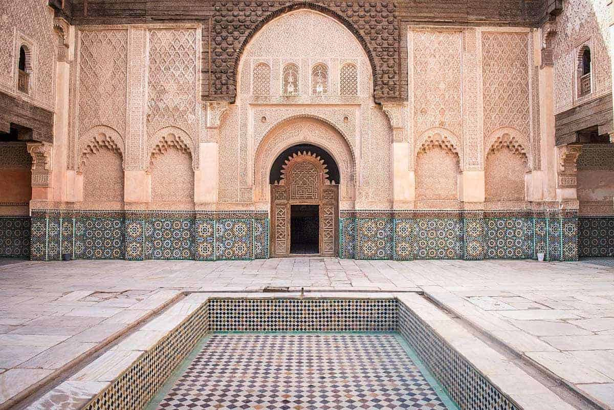The Ben Youssef Madrassa is one of the most popular attractions in Marrakech for it's impressive courtyard and prayer halls.