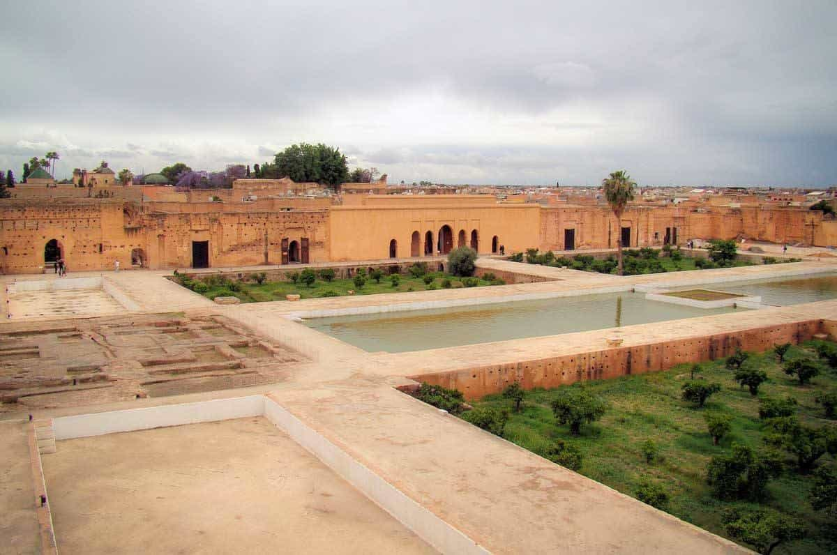 The ruins of El Badi Palace in Marrakesh is one of the most important attractions in Marrakech