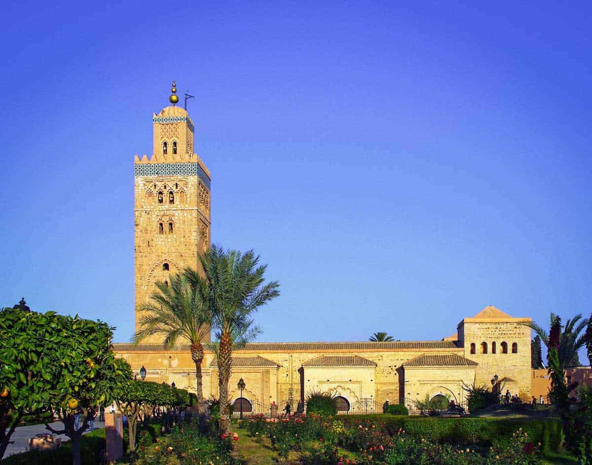 The Koutoubia Mosque is the largest Mosque in Marrakech.The mosque is lit at night making it very photogenic, so pop it on your list of things to do at night in Marrakech.