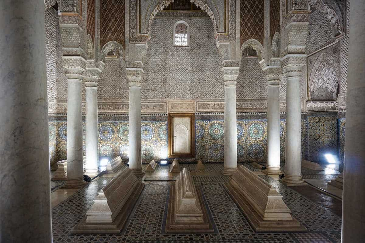 The Saadian Tombs in Marrakech are actually one of the most popular things to see in moroco because of their opulence and granduer