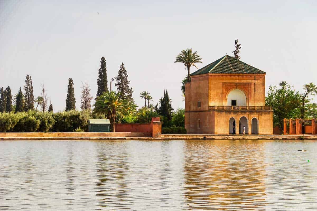 The Menara Gardens are just one of the famous gardens in Marrakech and most popular things to see in morocco