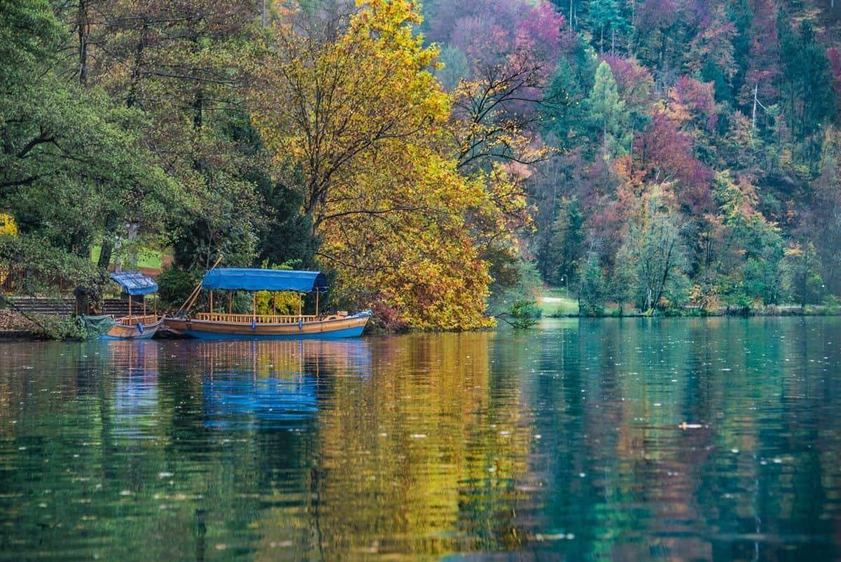 Lake Bled Slovenia in Autumn.