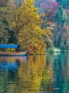 Lake Bled Slovenia in Autumn.