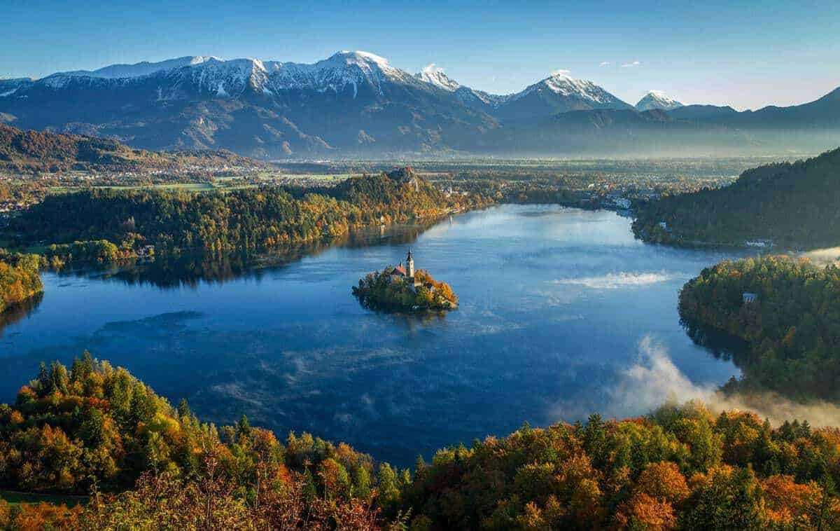 Best Places to Visit in Europe in Autumn - Lake Bled in Autumn