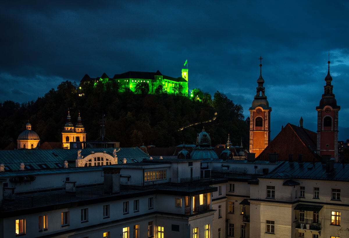 Ljubljana Slovenia - The Castle at night