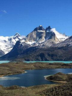 Mountains and Glacial lakes in Patagonia