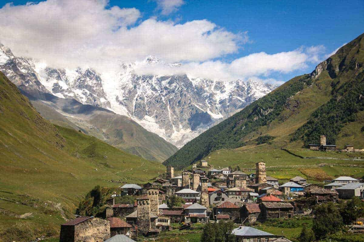 The mountains and villages of Svaneti Georgia. Have an authentic Svaneti local experience during winter in Europe