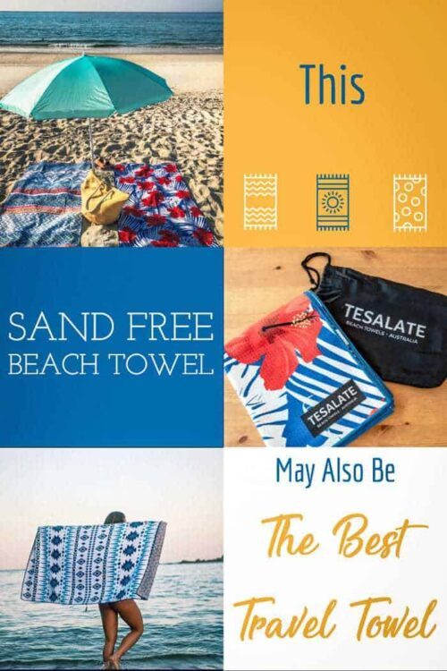 If this towel isn't the best beach towel ever, it may just be the best travel towel ever. #beachtowel #sandfree #traveltowel #beachwear