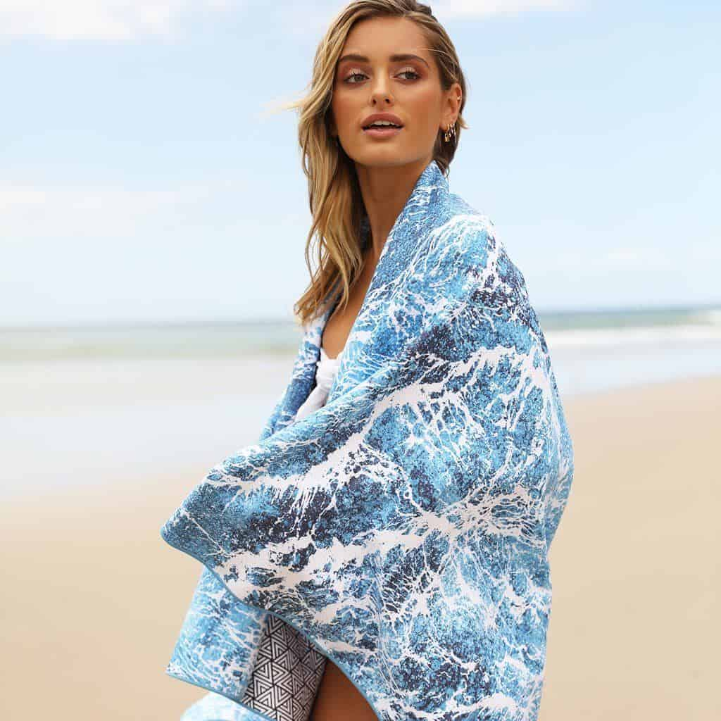 This sand free beach towel is also a great travel towel