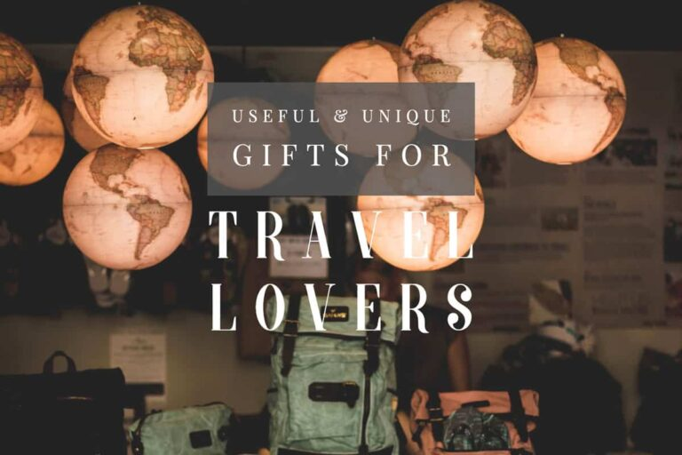 A guide to the best gift ideas for travellers including unique travel gifts from budget to luxury travel gifts.