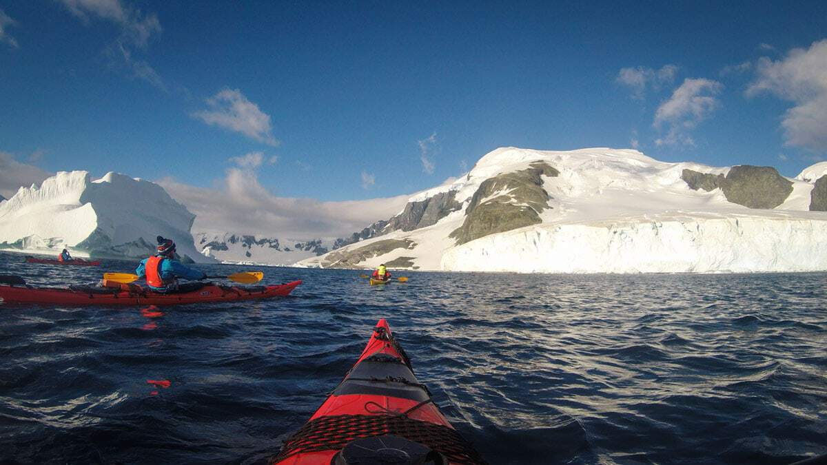 Kayaking in Antarctica amongst ice bergs and sea ice is an experience of a lifetime.