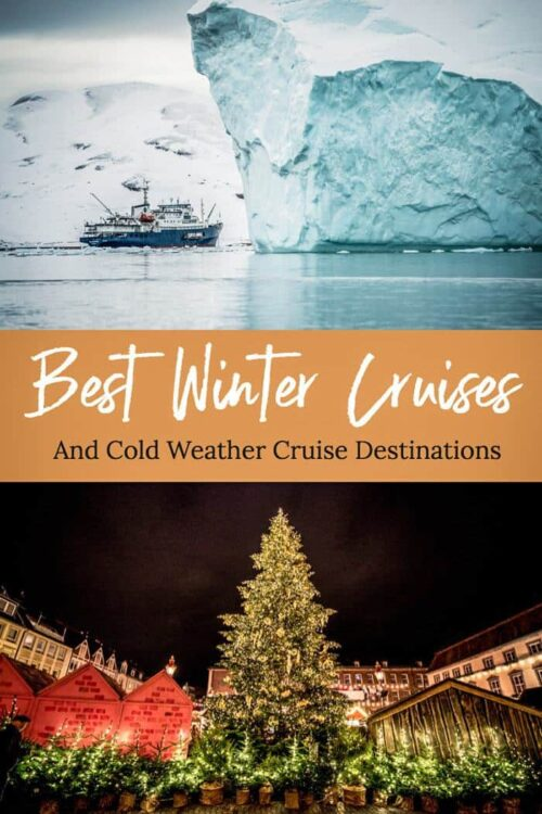 Here are some of the best winter cruises and cold weather cruise destinations. Start planning your winter cruise now. #cruise #winter