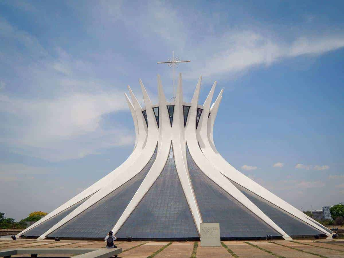 White crown shaped Cathedral of Brazilia.