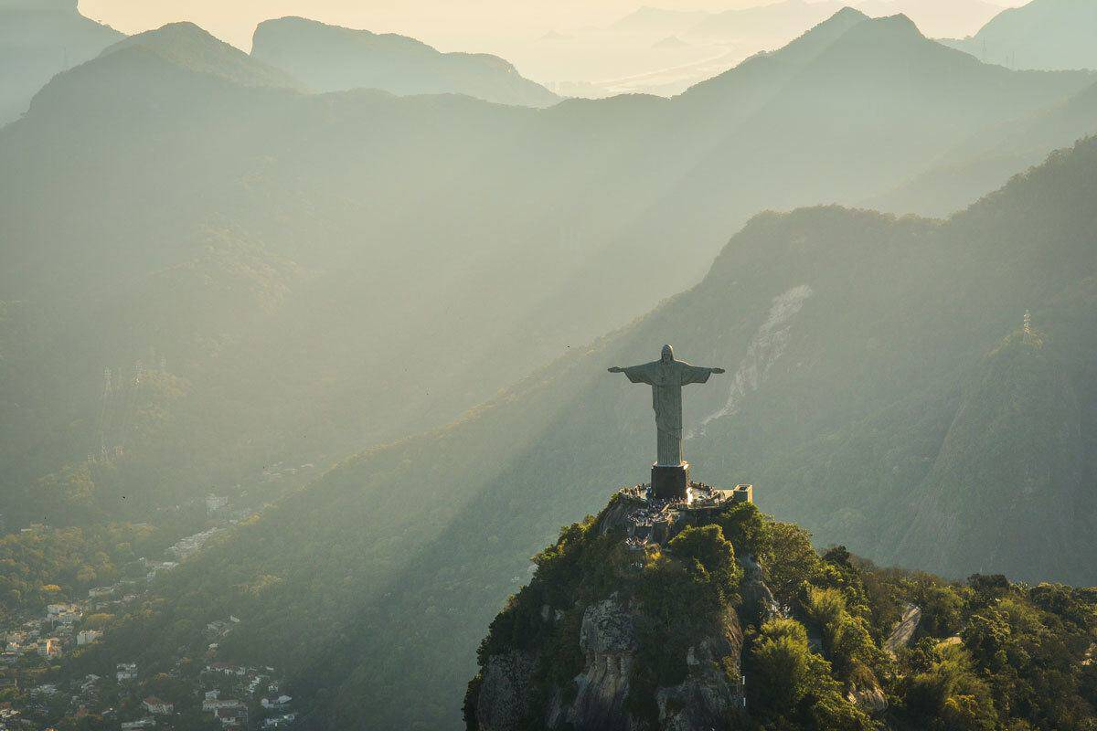 Iconic Christ the redeemer statue in Brazil.