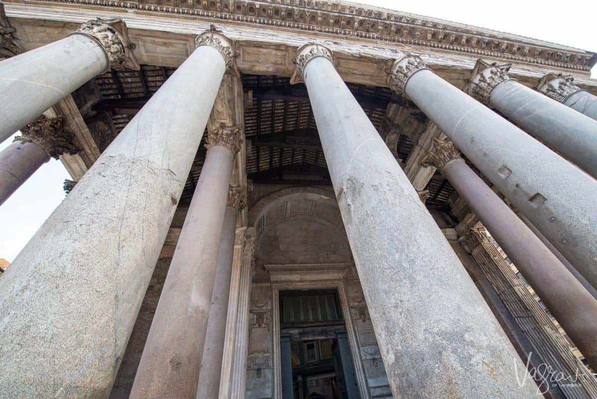 Marble pillars in the Pantheon.