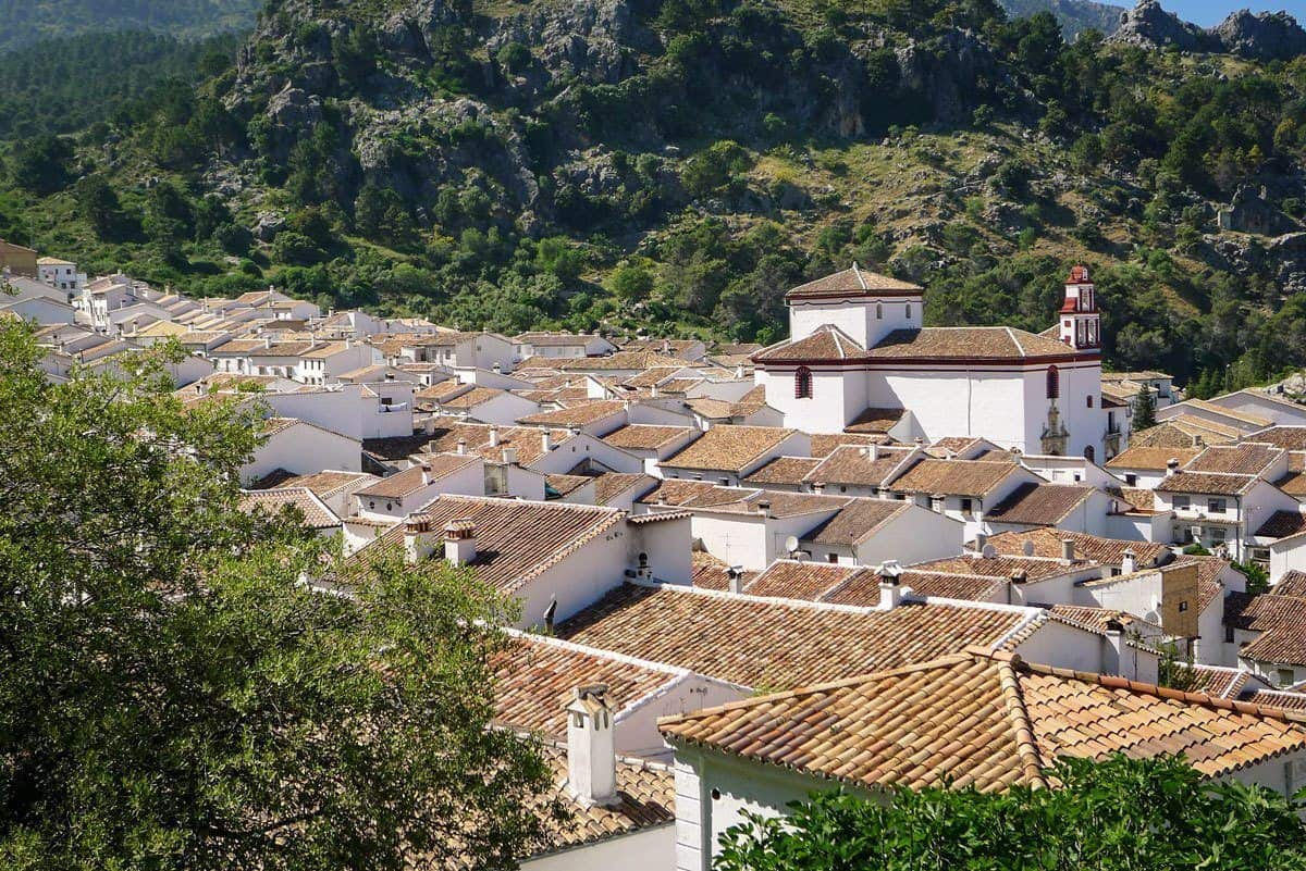 Grazalema Spain one of the Pueblos Blancos villages between Seville and Ronda, these are the most amazing white washed villages of Andalusia