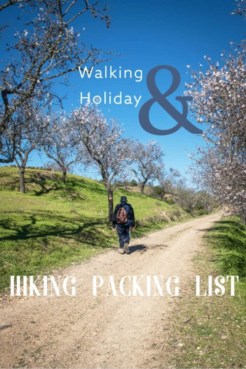 Know what to pack for you next walking holiday with our complete hiking packing list for all seasons. #hiking #packinglist