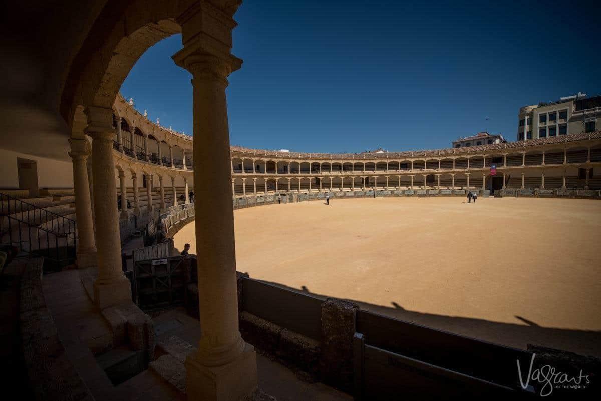 Bull fighting ring in Ronda Spain.