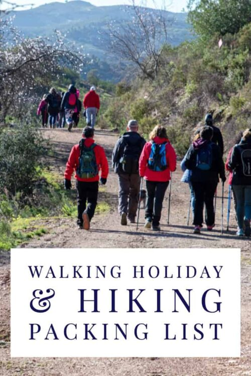 Wondering what to pack for your next walking holiday? We've got you covered with this hiking packing list for all seasons. #packinglist #walkingholiday #hiking #hikingpackinglist