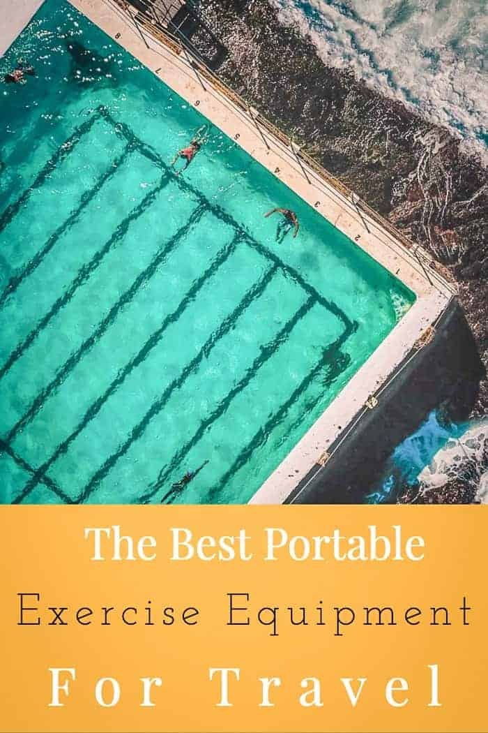 Get a great travel workout with these portable exercise equipment for travel options. #travelworkout #stayfit