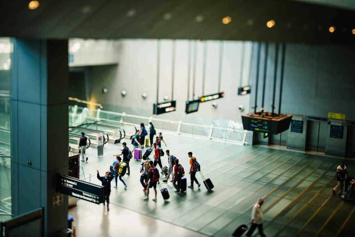 Safe Travel Tips - Share your travel plans with a friend. People at the airport
