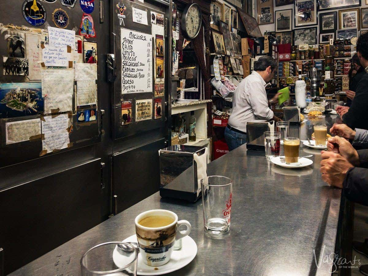 Coffee and tapas at the Casa Moreno an unusual place to eat in Seville