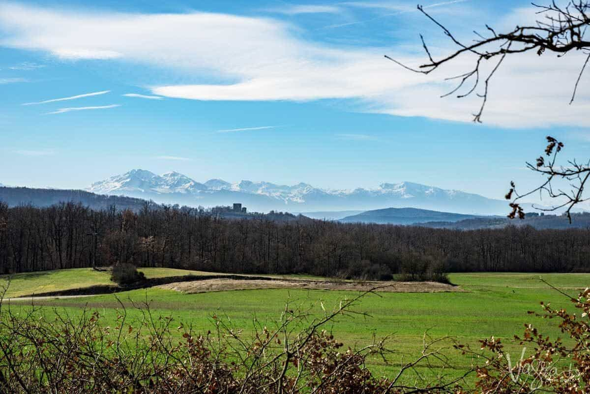 Green meadow, forest and snow capped mountains, pick the right destination when planning your walking holiday.