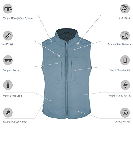 SCOTTeVEST Women's Featherweight 16 Pocket Vest