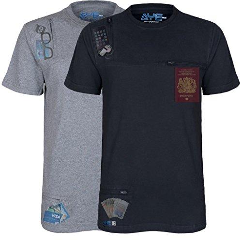 AyeGear T Shirt with 3 Discreet Pockets