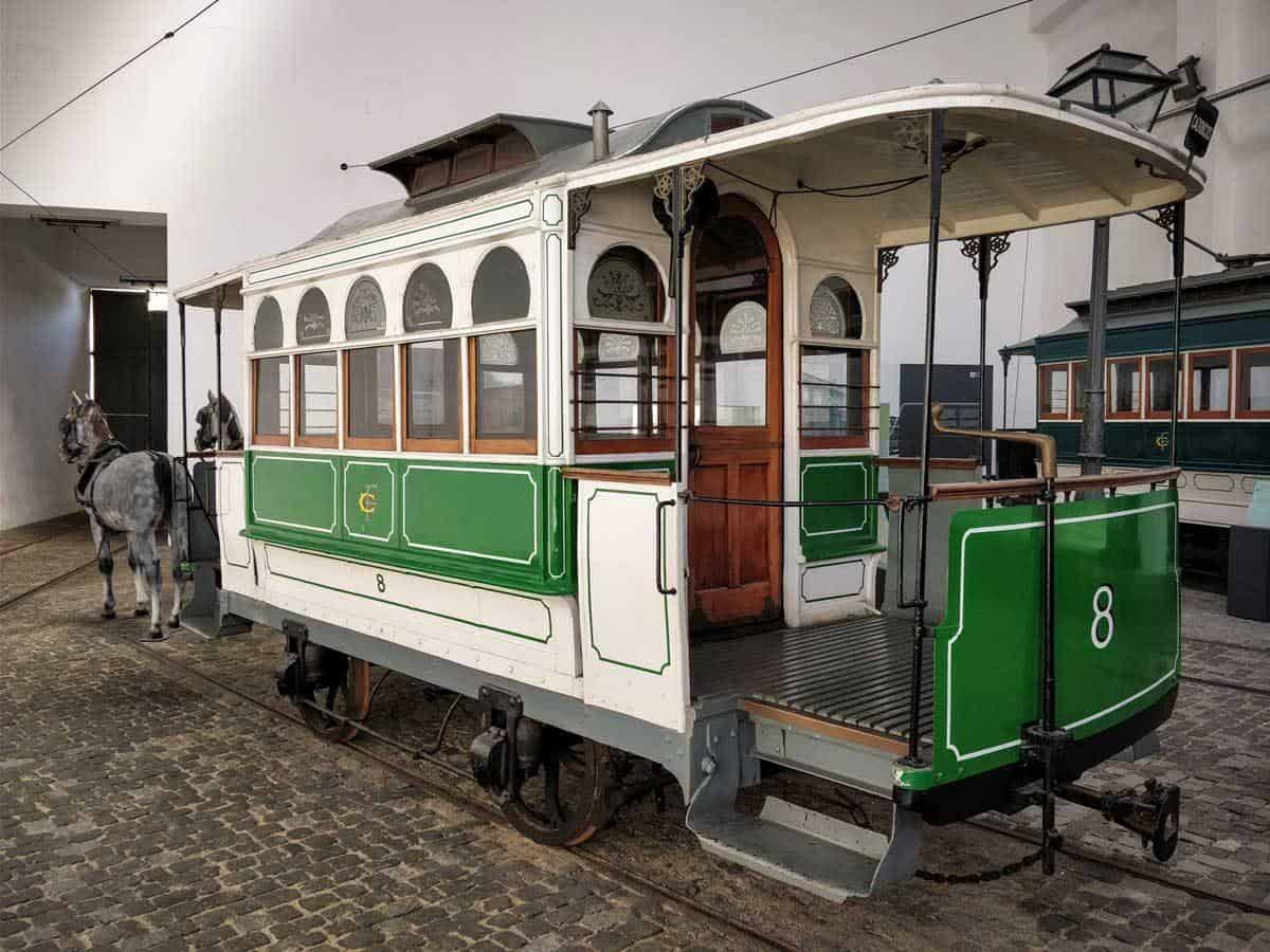 Horse drawn tram at the porto tram museum